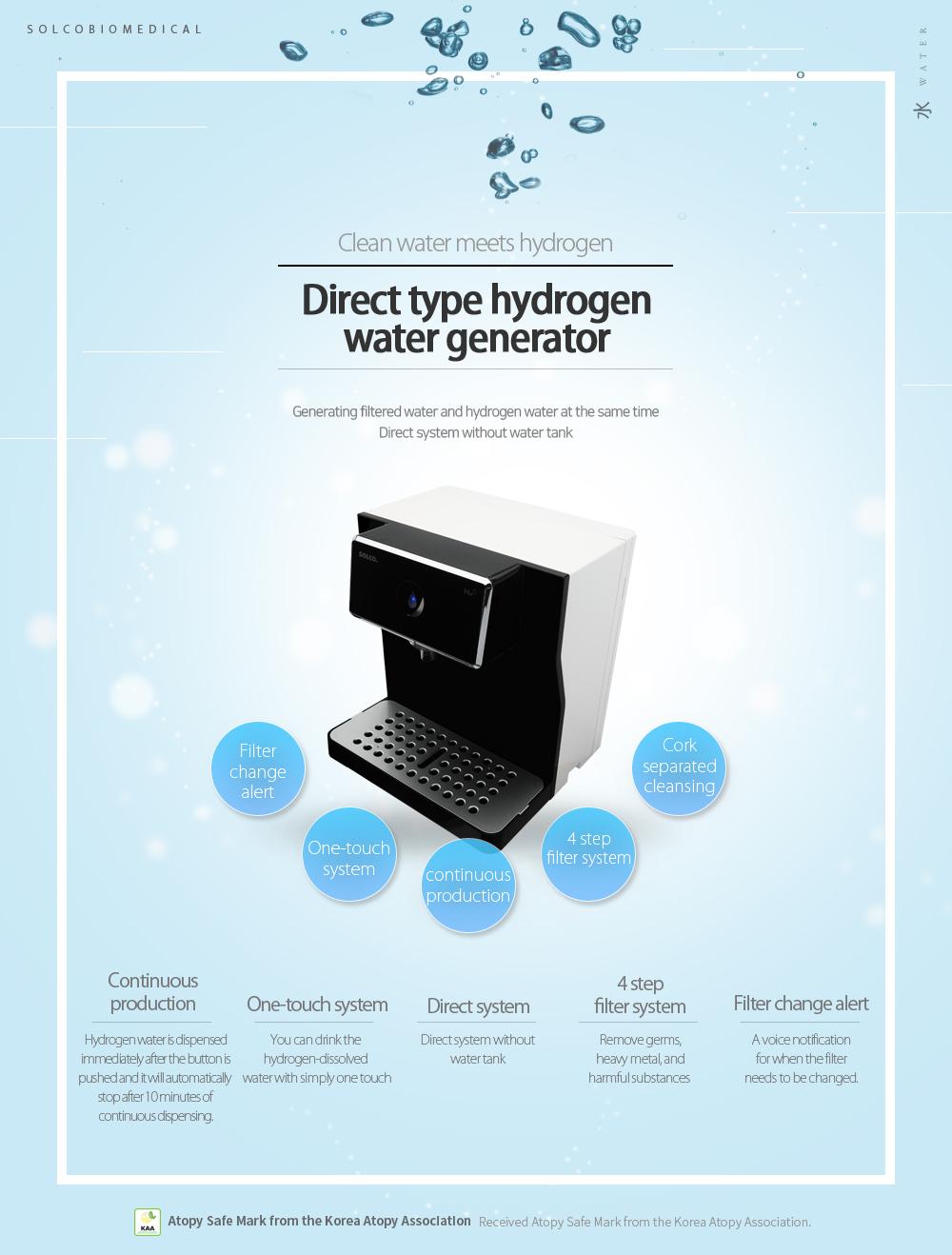 SOLCO BIOMEDICA Direct Type Hydrogen Water Generator