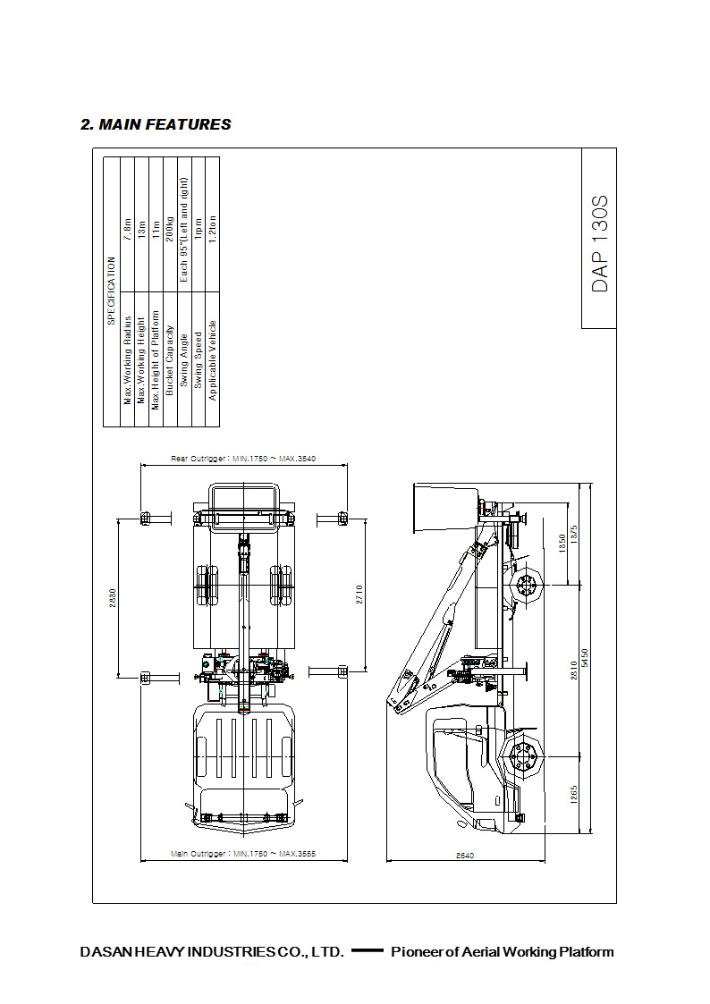 Dasan Heavy Industries Compact Type DAP Series 21