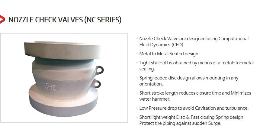 DKC Nozzle Check Valves