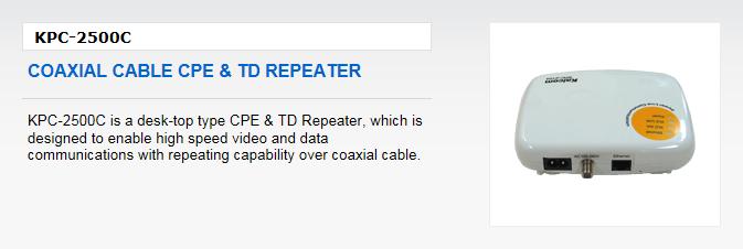 Kaicom Coaxial Cable CPE & TD Repeater KPC-2500C