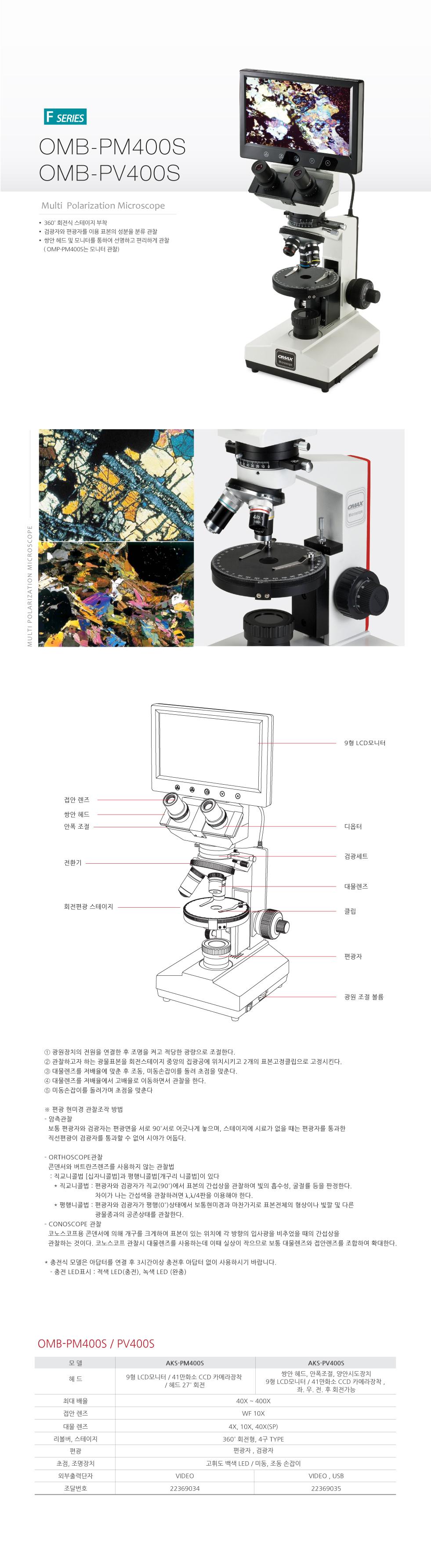 오맥스 편광현미경