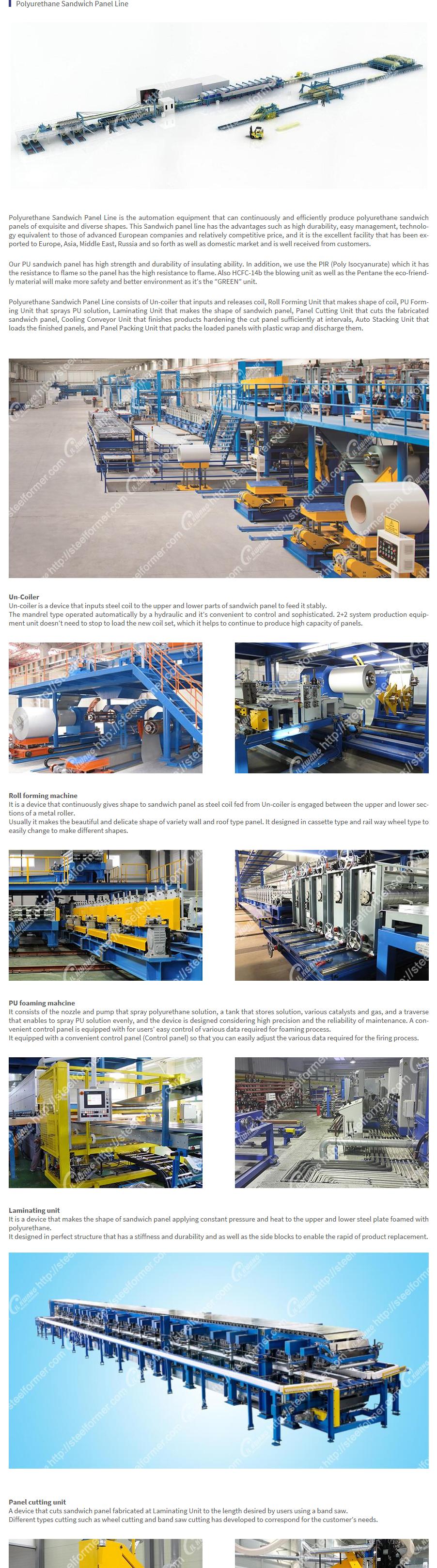 ILKWANG Metal Forming - Polyurethane sandwich panel line