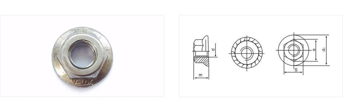 Daekwang Metal V-LOCK Nut (Type : Flange)