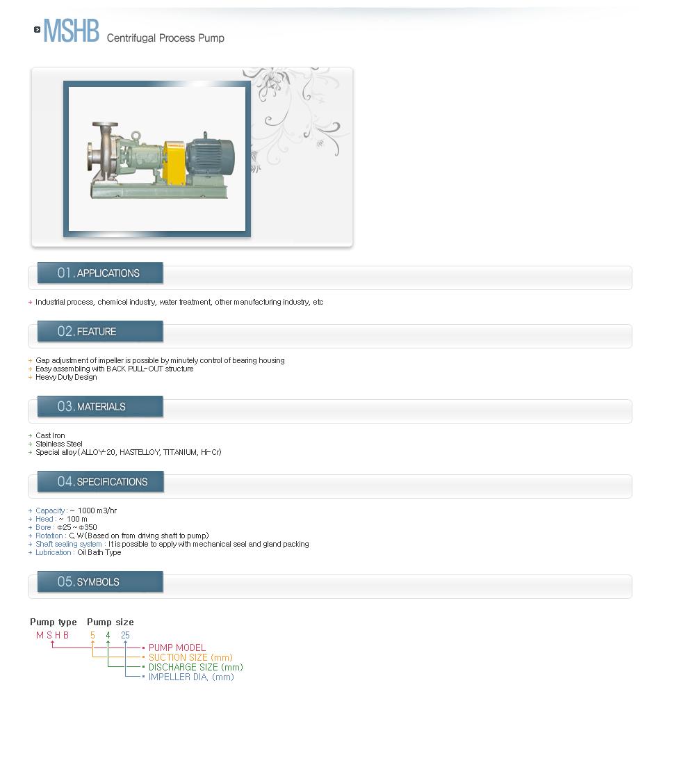 DUKJI INDUSTRIAL Centrifugal Process Pump MSHB