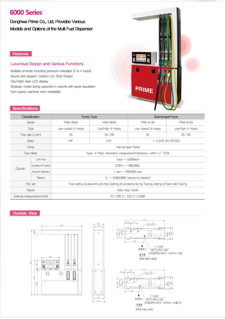 Donghwa Prime Fuel Dispenser PRM/SOP Series 1