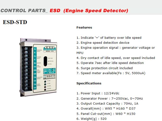 EGCON Engine Speed Detector ESD