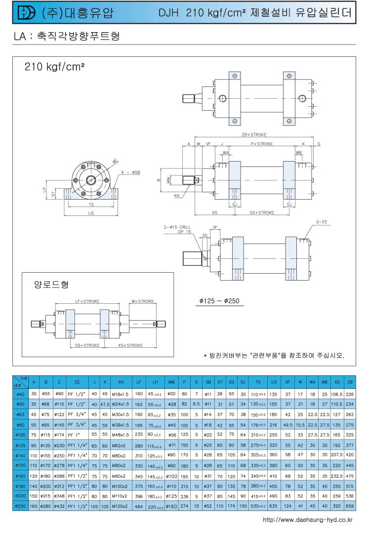 (주)대흥유압 제철 설비 고압실린더  1