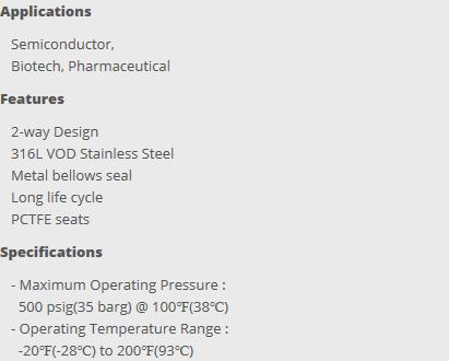 HY-LOK Bellows & Diaphragm Valve  5