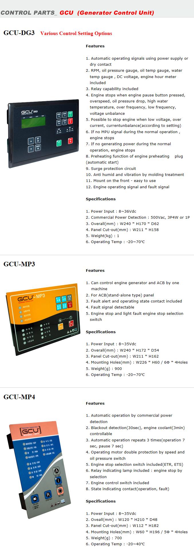 EGCON Generator Control Unit GCU