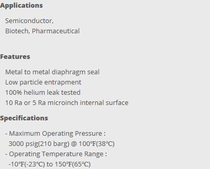 HY-LOK Bellows & Diaphragm Valve  1
