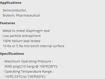 HY-LOK Bellows & Diaphragm Valve  3