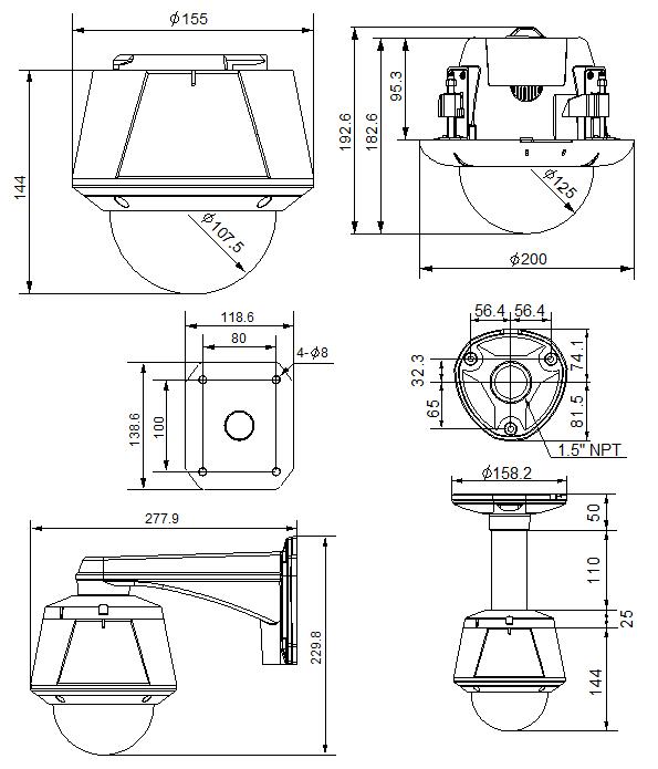 Seyeon Tech PTZ Dome Camera FW7804-FNC 1