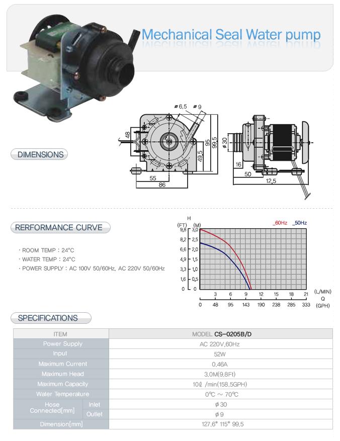 CSE Mechanical Seal Water Pump CS-0205B/D