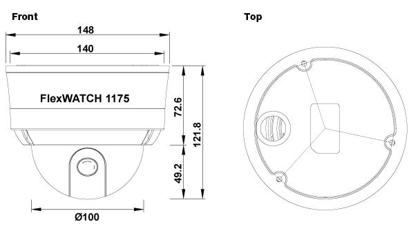 (주)세연테크 Dome Camera FW1175-FM 1