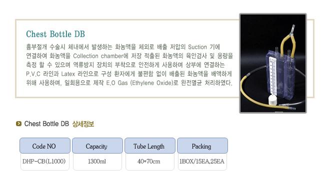 (주)동화판다 Chest Bottle DB DHP-CB(L1000) 1