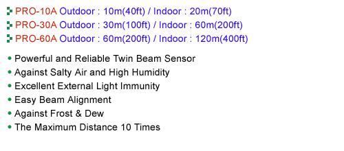 Sensor Pro Twin Beam PRO-10A/30A/60A 1
