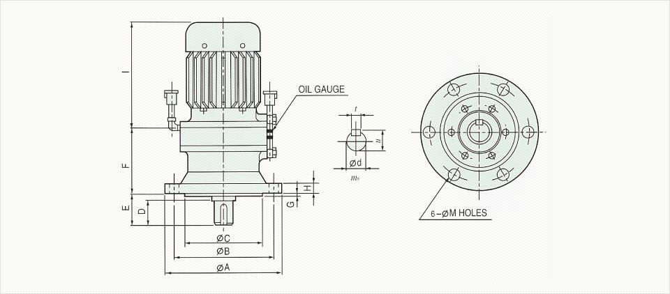 창신기계제작소 싸이크로이드 감속기 - Vertical Reducer