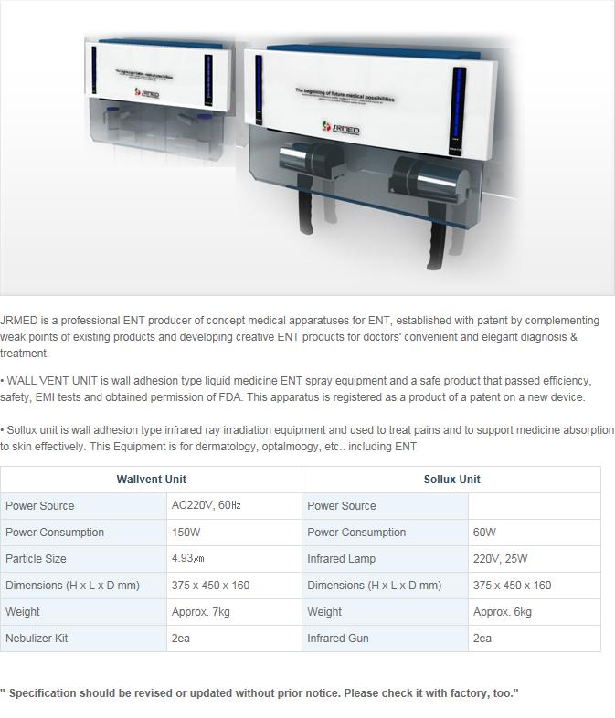 JRMED ENT Wall Equipment