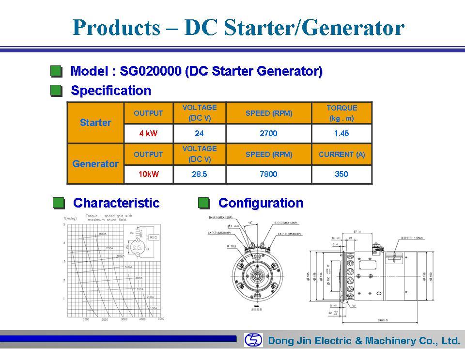 DongJin Electric&Machinery DC S/T Generator SG020000