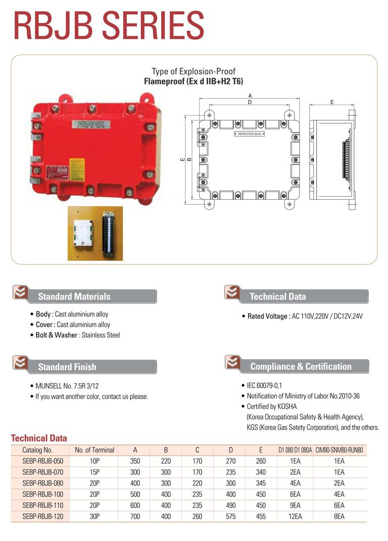 Samik Explosi Onproof Elxctric  RBJB Series
