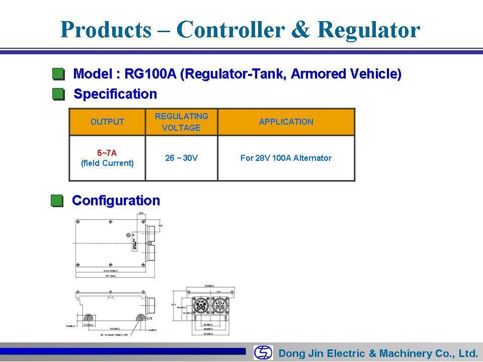 DongJin Electric&Machinery Regulator 100A RG100A