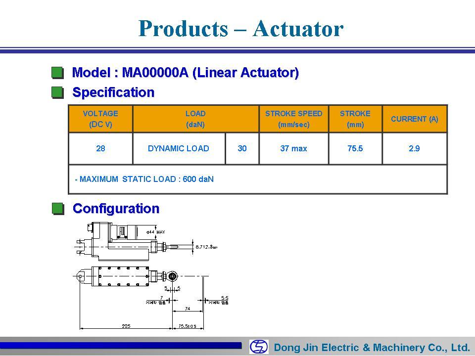 DongJin Electric&Machinery Linear Actuator (Antena) MA00000A