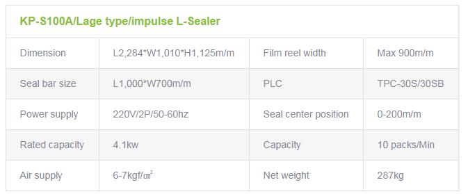 광림파워팩 반자동 L형 실러 (대형) KP-S100A 2