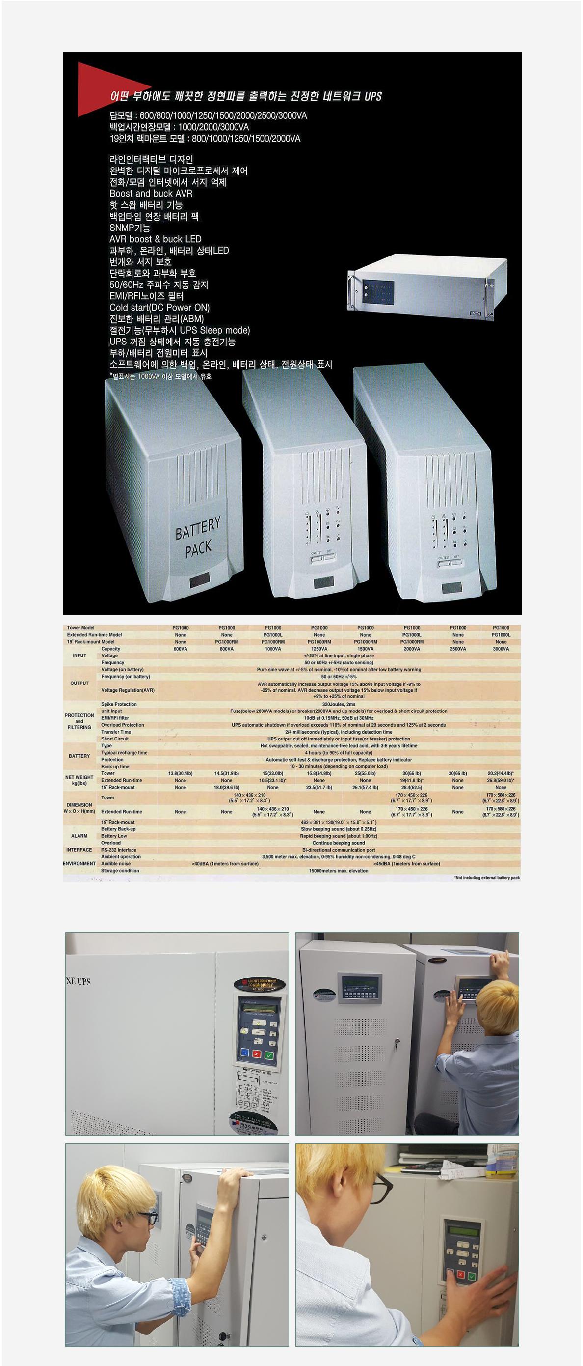 Daeha Solutech UPS (Uninterruptible Power Supply) PG-Series 3