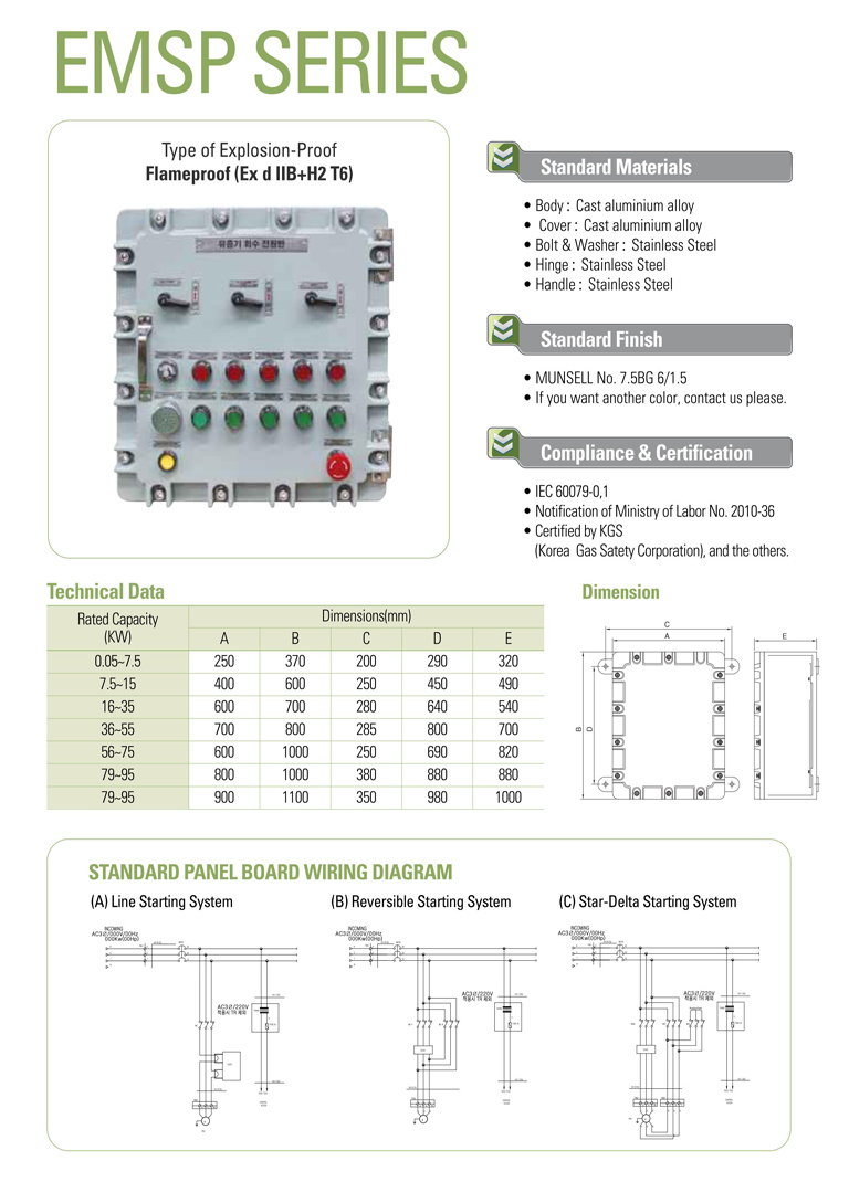 Samik Explosi Onproof Elxctric  EMSP Series