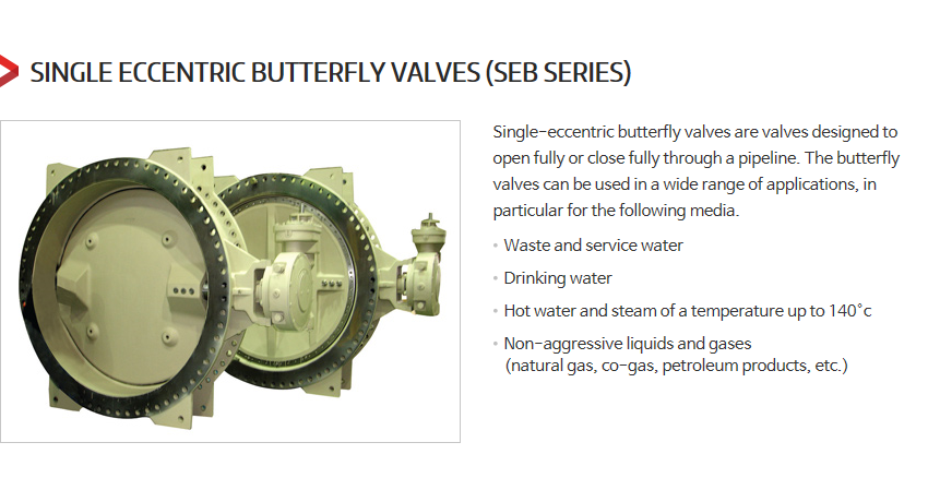 DKC Single Eccentric Butterfly Valves