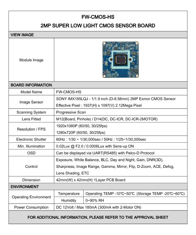 Seyeon Tech CMOS Sensor Board  5