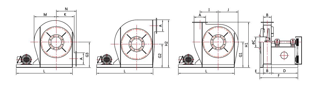 대륜산업 벨트 구동형 터보팬 DR-TF Series 1