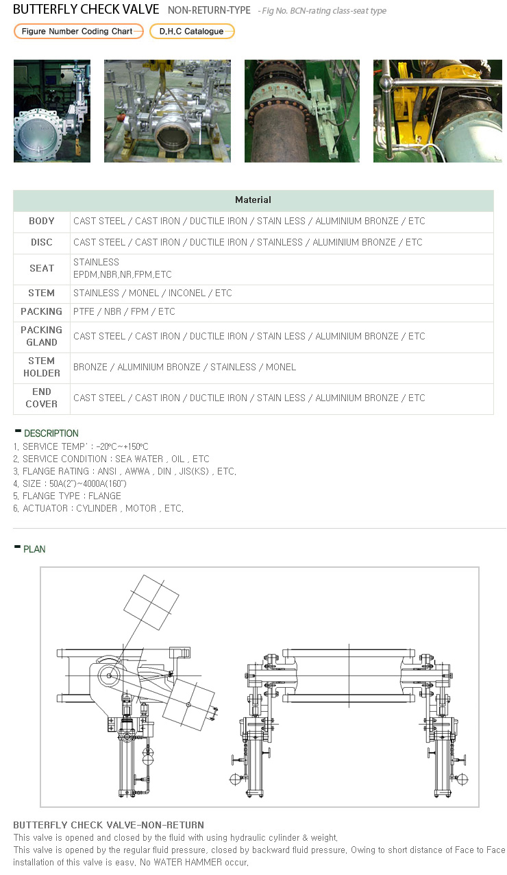 Daehan Control Butterfly Check Valve  1