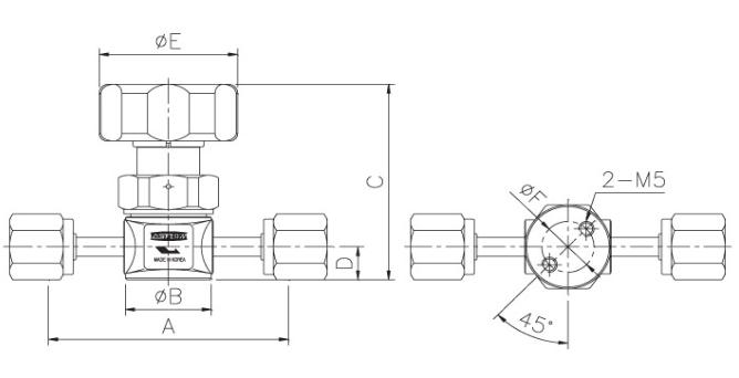 ASFLOW Forged Type Manual Diaphragm Valve  2
