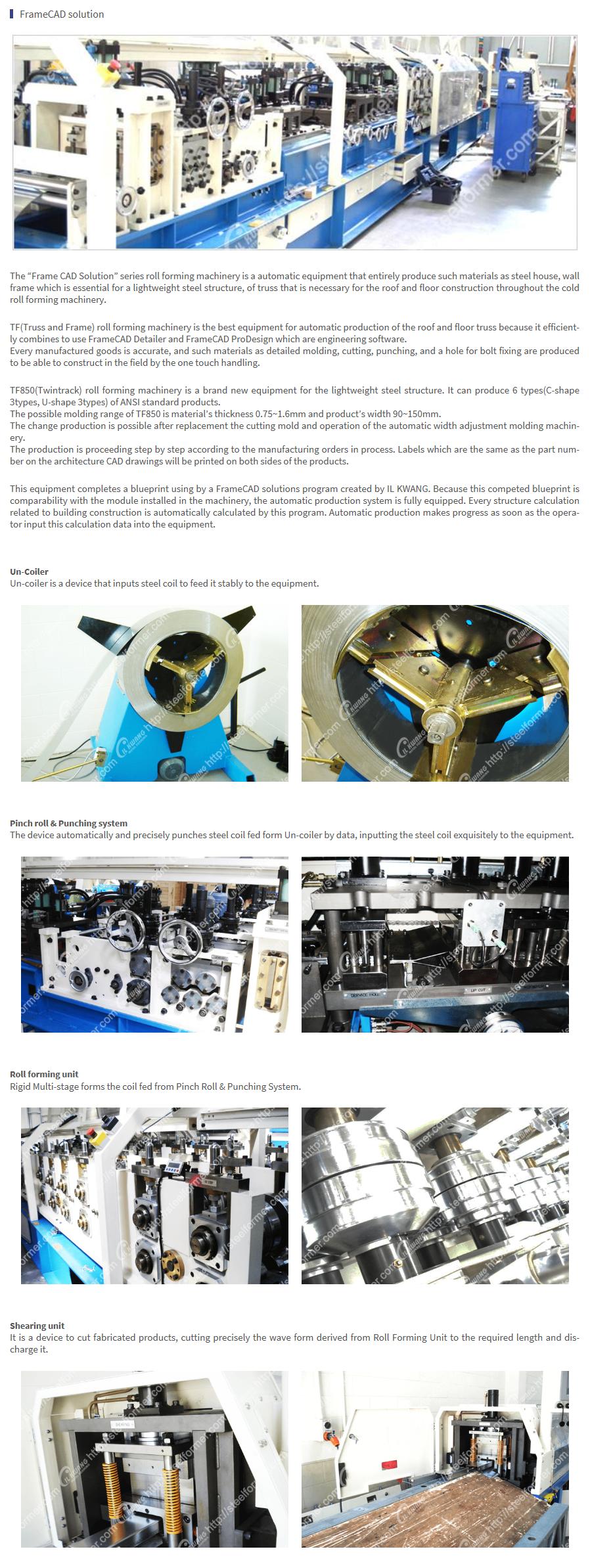 ILKWANG Metal Forming FrameCAD Solution