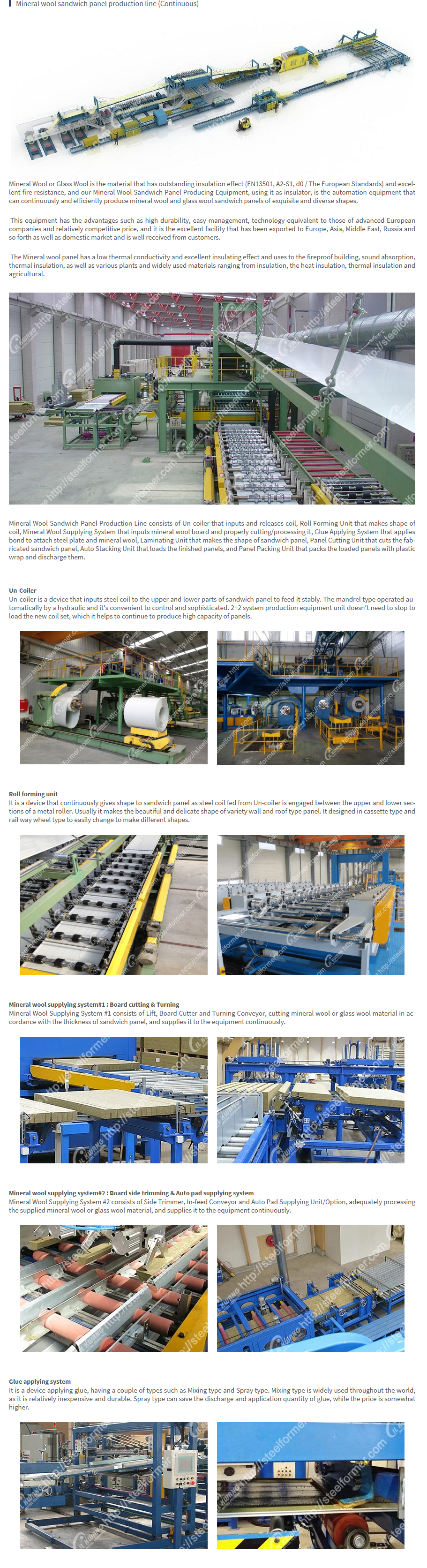 ILKWANG Metal Forming Mineral wool sandwich panel (Continuous)