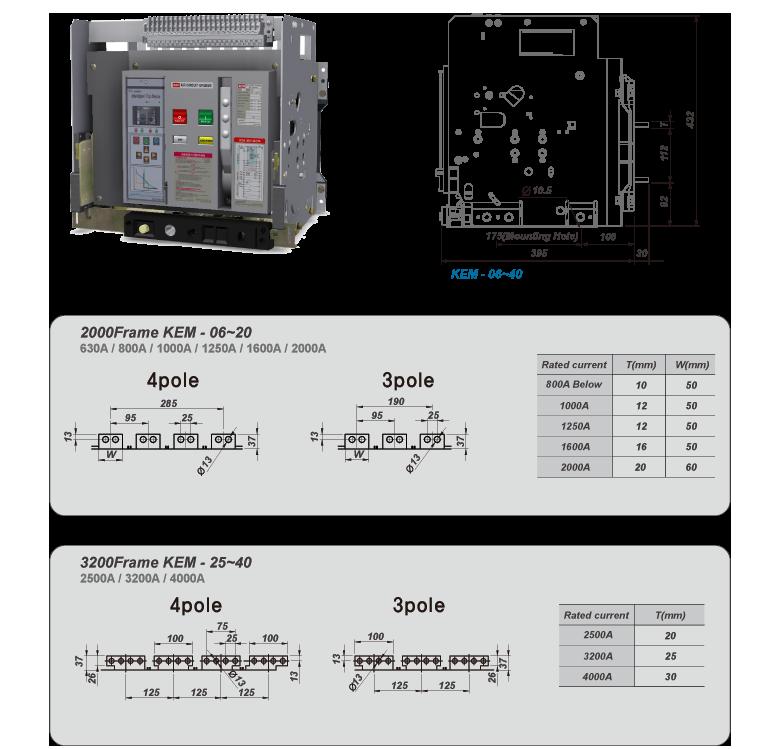 Kisung Electric KEM ACB Fixed KEM-Series 2