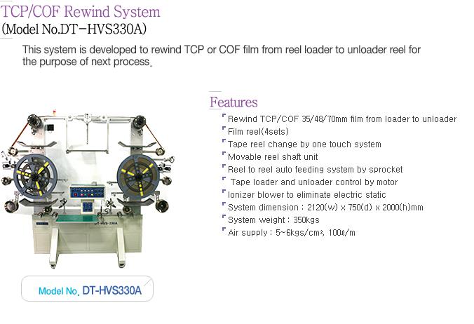 Dynatech TCP/COF Rewind System DT-HVS330A