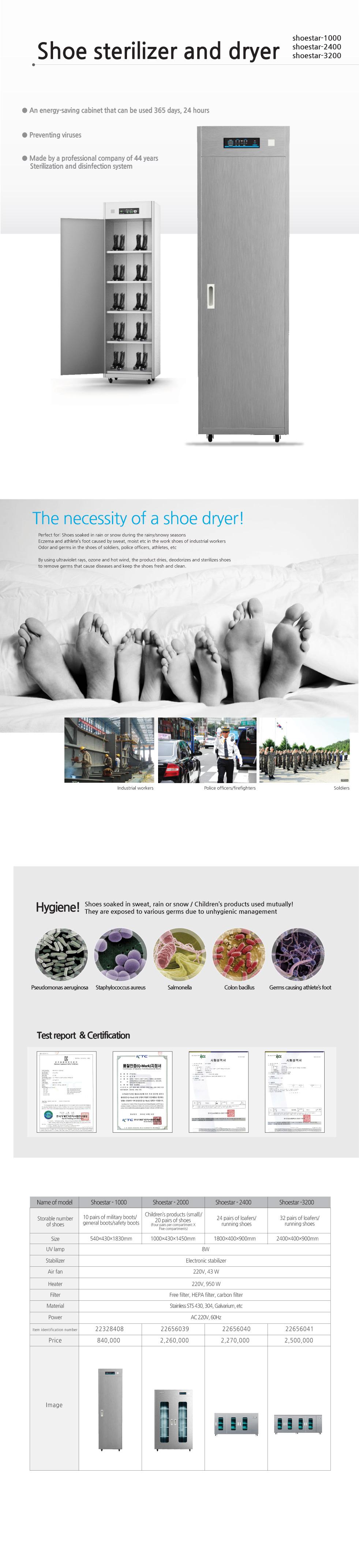 OMAX Shoes Dryer shoestar-1000/2000/2400/3200