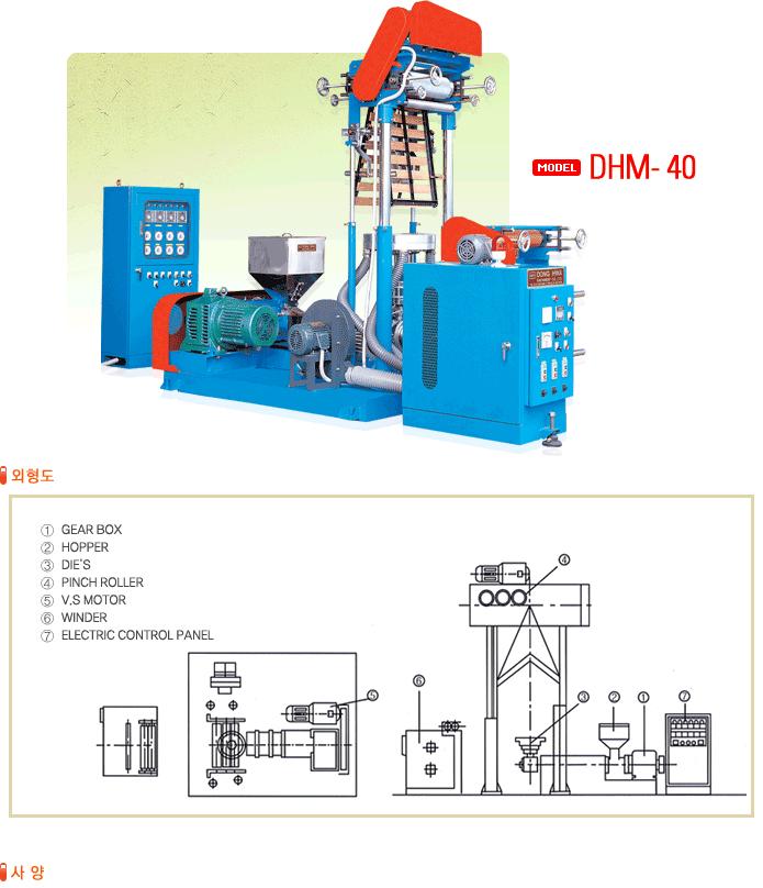 (주)동화인더스트리 미니 압출기 DHM-40 1