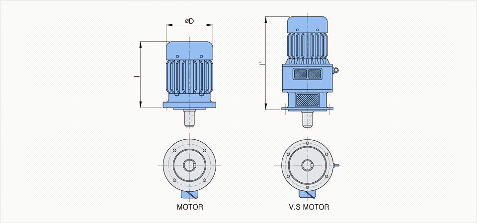 창신기계제작소 싸이크로이드 감속기 - Vertical Reducer  3