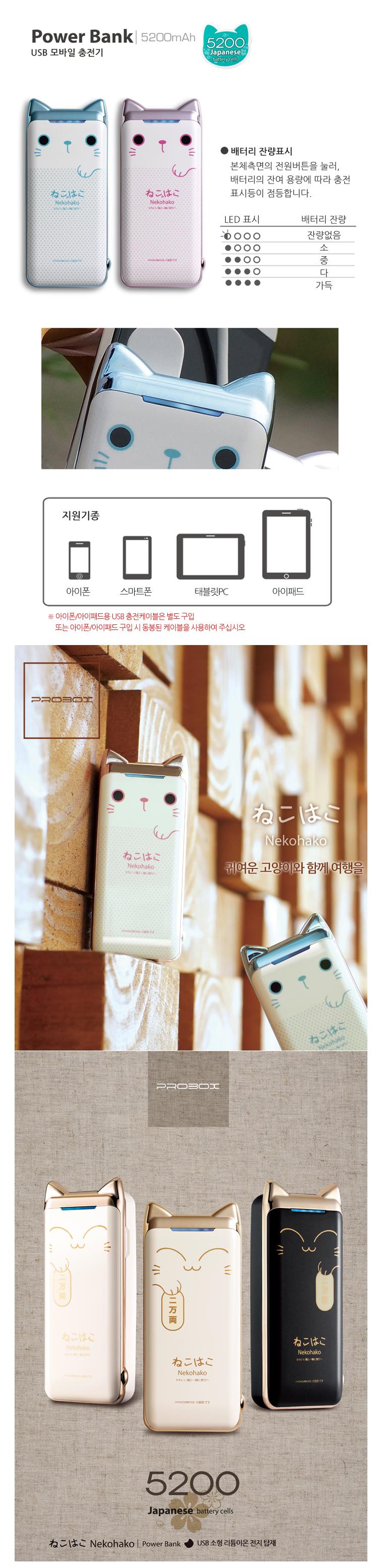 위즈플랫 휴대용 보조배터리 Power Bank S5200 2