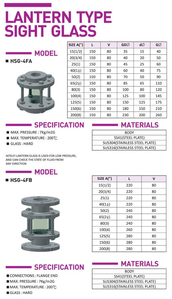 HITELFI Lantern Type HSG-4FA/4FB