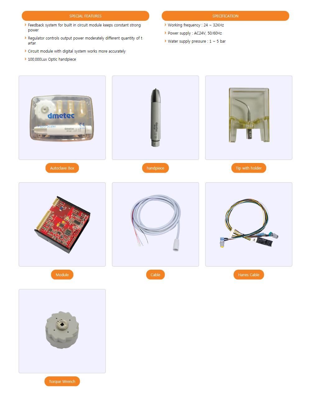 Dmetec Ultrasonic Scaler LED Compact S