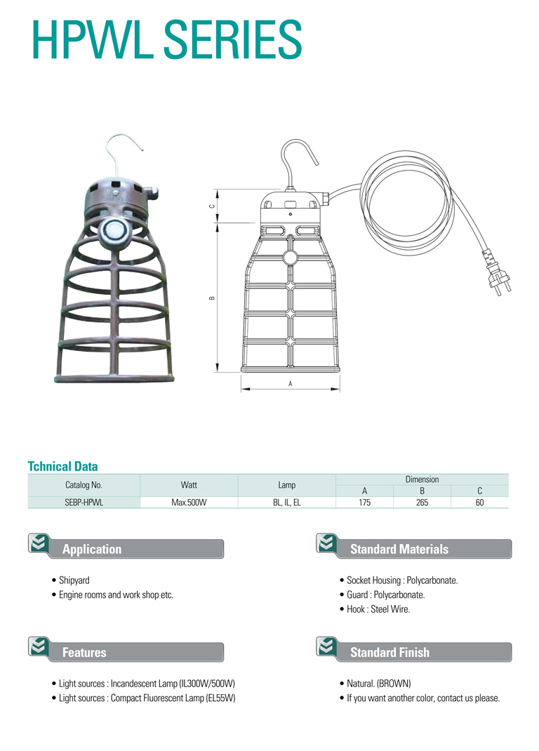 Samik Explosi Onproof Elxctric Working Lights HPWL Series