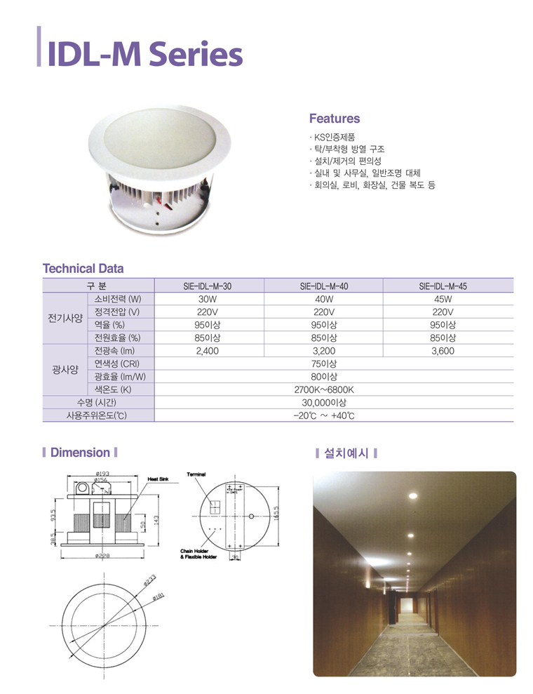 Samik Explosi Onproof Elxctric Interior Lighting IDL-M Series