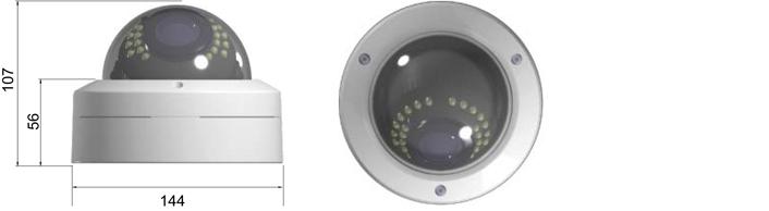 Camlux 700TVL (960H) CV-700/701-FVIR 2