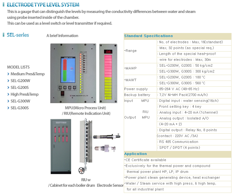 SAMIL Electrode Level System