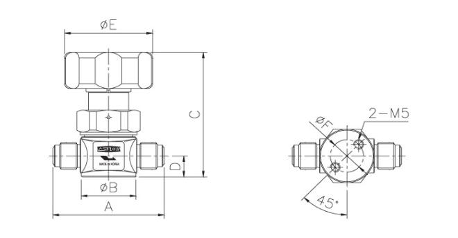 ASFLOW Forged Type Manual Diaphragm Valve  1