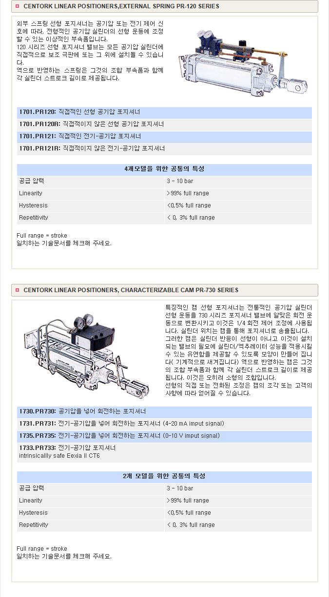 골드라인테크(주) Centork Linear Positioner  1